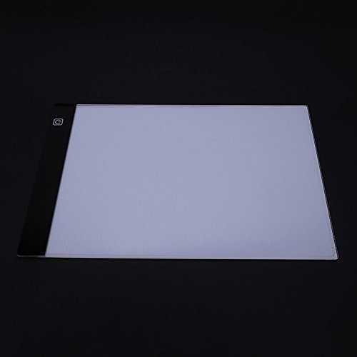 A4 LED Light Box Drawing Board - BESTGIFT Tracing Board USB Power Ultra-Thin Digital Tablet Brightness Adjustable Pad Copy Table for Artist by BESTT (Image #4)'