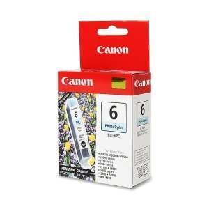 Canon BCI6PC (BCI-6) Ink Tank, 370 Page-Yield, Photo Cyan (Printer Cartridge Bci Cyan 6)