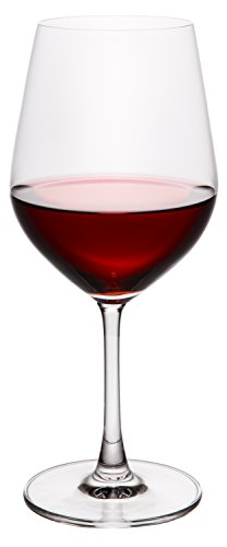 Pinotage Red Wine - Pure and Simple Premium Crystal Wine Glasses, Bordeaux Merlot Cabernet Red Wine Long Stemmed Glass, Set of 4, Large Bowl, 20 fl oz