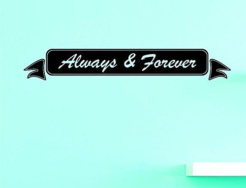 Design with Vinyl US V JER 4111 1 Top Selling Decals Always And Forever Wall Art Size Black 8 x 20 8 Inches X 20 Inches Color