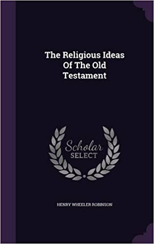 Book The Religious Ideas Of The Old Testament