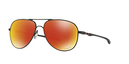 Oakley Elmont Large Aviator Sunglasses Satin Black w/ Prizm Ruby Lens + - Large Oakley Elmont