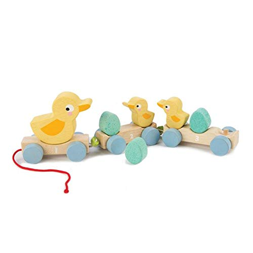 Along Toy - 9pc Duck Family Set : 1 Mother Duck, 2 Baby Ducks , 3 Eggs and 3 Cars - Encourages Number Learning - 18 Months+ ()