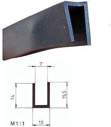 Eutras Kantenschutz 2329 Fassungsprofil Fp3009 Kantenschutz Dichtungsgummi Spaltmaß 7 0 Mm Schwarz 20 M Baumarkt
