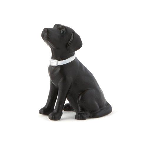 Black Labrador Porcelain - Weddingstar Labrador Retriever Dog Figurine in Black