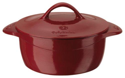 UPC 016853034369, Calphalon Enamel Cast Iron 5 Quart Dutch Oven, Cabernet Red