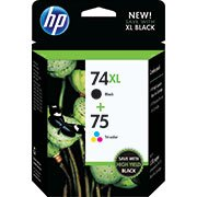 Hp CZ139FN 74Xl/75 Black / Tri- color combo pack Ink (Hp C4400 Printer)