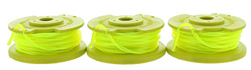 RL3 OEM .080 Inch Twisted Line and Spool Replacement for Ryobi 18v, 24v, and 40v Cordless Trimmers (3 Pack) ()