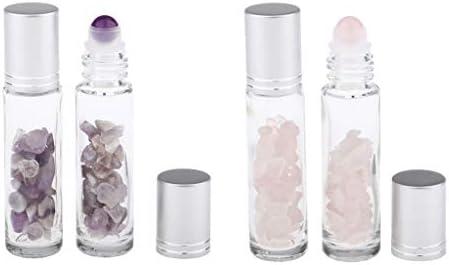 dailymall ロールオンボトル 10ml エッセンシャルオイルボトル ガラス アロマオイルボトル 精油ボトル 4個