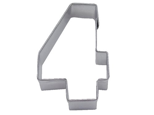 R&M Number 4 Cookie Cutter in Durable, Economical, Tinplated Steel