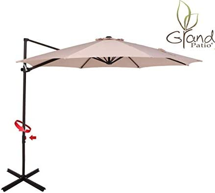Grand patio 10 FT Aluminum Offset Umbrella