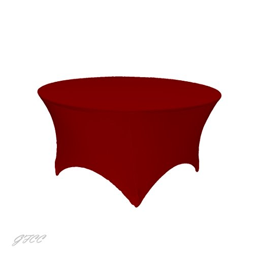 GFCC 3FT Table Red Round Stretch Tablecloth for Wedding Party Restaurant Decoration by GFCC