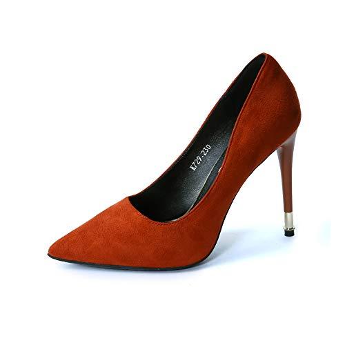 C 38 EU FLYRCX Mode rétro Chaussures Simples Stiletto Chaussures Pointues Les Les dames Bouche Peu Profonde tempéraHommest élégant Talons Hauts