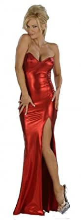 Nom de Plume, Inc Women's Sexy Stretch Lame Jessica Rabbit Small Red