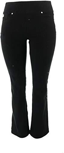 Belle Kim Gravel Flexibelle Boot-Cut Jeans Black 16 New A311555 from Belle by Kim Gravel