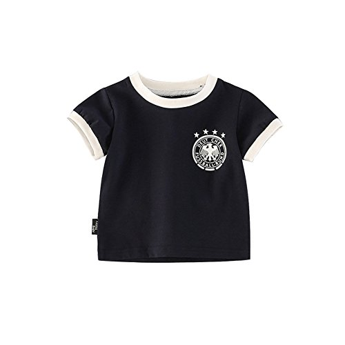 Fairy Baby Toddler Baby Boys Girls World Cup Football Soccer Jersey Shirts Summer Outfit Clothes Size 110 (Blue) -