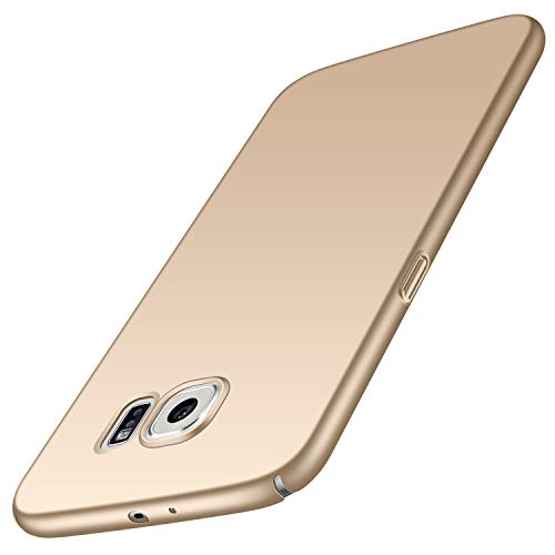 Avalri Samsung Galaxy S6 Case, Ultra Thin Anti-Fingerprint and Minimalist Hard PC Cover for Galaxy S6 (Silky Gold)