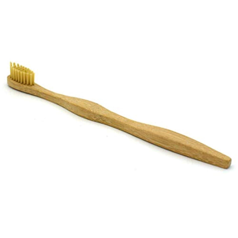 イーウェルウナギ知覚できる1ピースオーラルケアヘッド竹歯ブラシ環境木製レインボー竹歯ブラシ柔らかい毛大人、カーキ