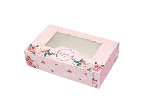 NqceKsrdfzn Scatole per Torte, Mousse di Formaggio Mousse di Uova Confezione di scatole Dieci (Rosa)
