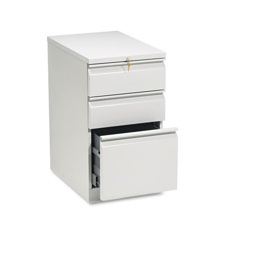 HON 33723RQ Efficiencies Mobile Pedestal File - Storage Pedestal with 1 File and 2 Box Drawers 22-7/8-Inch , Light Gray (H33723R) ()