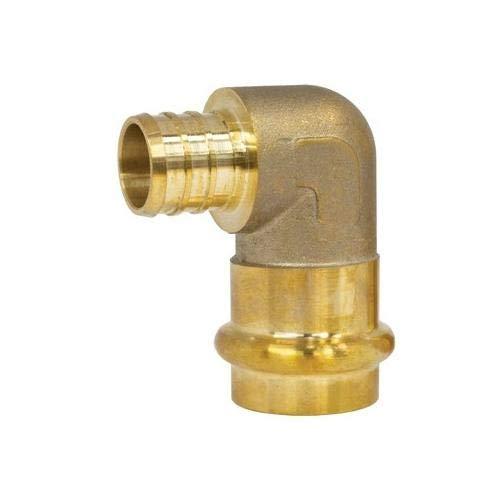 Size 3//4 Webstone 16843W Pack of 32 pcs 1684 Brass 90 Deg Transition Elbow