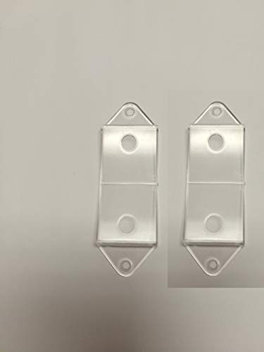 Clear Rocker Switch Plate Cover Guard Keeps Light Switch ON or Off Protects Your Lights or Circuits from Accidentally Being Turned on or Off. (2 Pack)