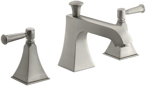 Kohler Glass Lavatory - KOHLER K-T428-4S-BN Memoirs Bath or Deck Mount High-Flow Bath Faucet Trim, Vibrant Brushed Nickel