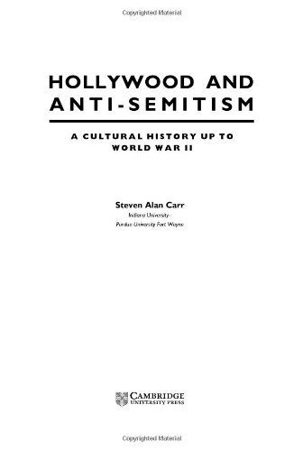 hollywood and anti semitism carr steven alan