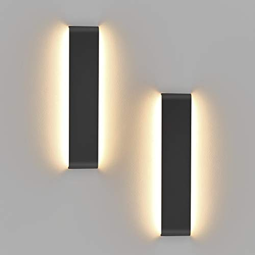 Klighten 14W Wandlamp Badkamer Lamp, Pack van 2, LED Muur Warm Wit 2700-3200K Wandspiegel Licht Wandlamp Badkamer Lamp…