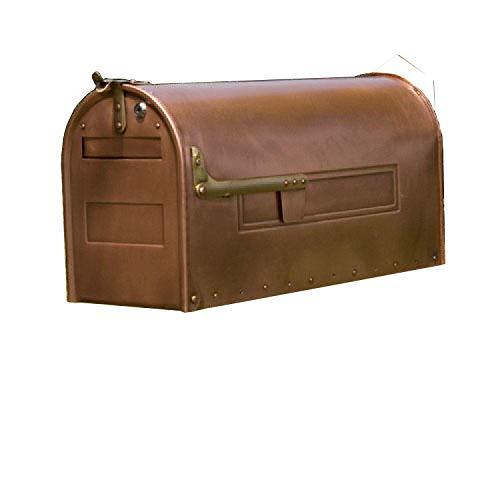 (Naiture Locking Post Mount Standard Copper Mailbox)