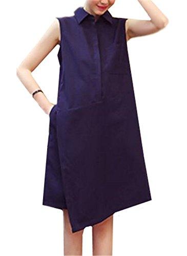 Casual Maglietta Premaman Senza Irregolare Incinta Vestito Aivosen Maniche Sciolto Orlo Abito Gravidanza Abito Vestiti Blu Vestito Dress Abiti Elegante Donna Ovqn5Xq8