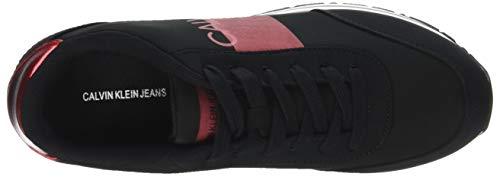 black Calvin Film Coretta Basses Femme metal Nylon Red 000 Noir Sneakers metal Klein Jeans UUwvR