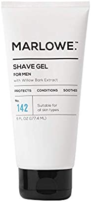 MARLOWE. No. 142 Men's Shave Gel 6 Oz | Protects Skin from Irritation & Razor Burn | Hydrates & Lu