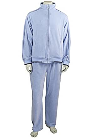Baby Blue Mens Velour Tracksuit (Small)