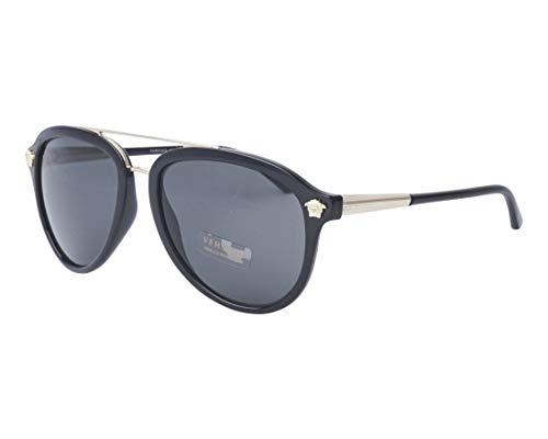 Versace Men's VE4341 Black/Grey One Size (Versace Hydrating Lipstick)
