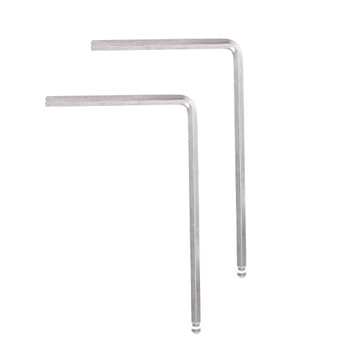 Guitar Allen Wrench, RiToEasysports 2 PCS Truss Rod Allen Wrench Tool 4mm / 5mm Ball End for Martin Acoustic Guitar(Silver 5mm) ()