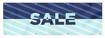 CGSignLab Christmas Sale 12x3 Nautical Stripes Wind-Resistant Outdoor Mesh Vinyl Banner