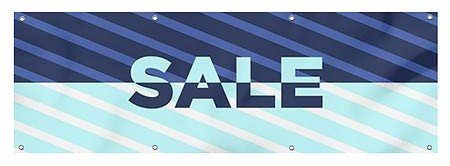 Nostalgia Stripes Wind-Resistant Outdoor Mesh Vinyl Banner Garage Sale CGSignLab 12x3