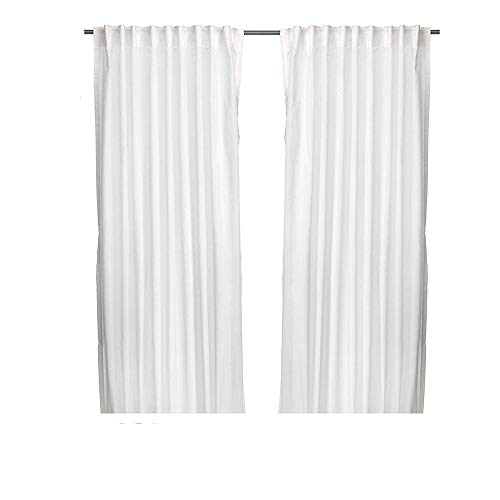 Ikea Thin Curtains, 1 Pair, White