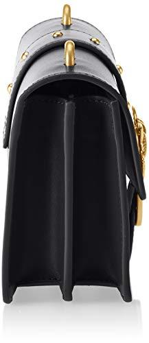 Mujer Limousine Vitello y Tracolla Love Simply hombro bolsos Pinko Seta Nero Negro de Shoppers Mini wPS6WqHp