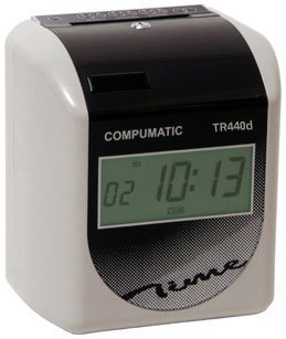 New Compumatic TR440d Heavy Duty Electronic Time Clock Bundle (Includes 250 Time Cards, 10 Pocket Time Card Rack, Spare Ribbon, New TR440d Electronic Time Recorder)