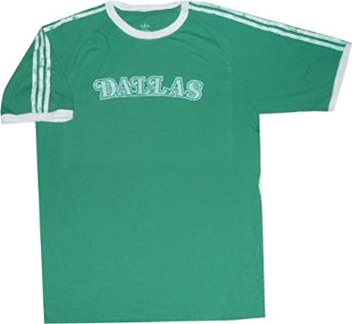 - Dallas Mavericks Throwback Vintage Adidas Premium Slim Fit T Shirt (Large)