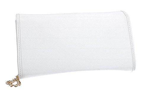Umhängetasche damen mini PIERRE CARDIN weiß pochette Made in Italy VN1117