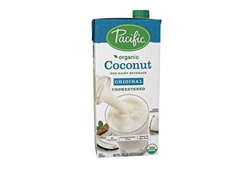 Pacific Foods Organic Coconut Non-Dairy Beverage, Unsweetened Original, 32-Ounce, (Pack of 12)