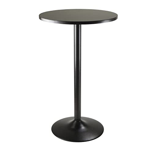 Charmant Winsome Obsidian Pub Table Round Black Mdf Top With Black Leg And Base    23.7 Inch Top, 39.76 Inch Height