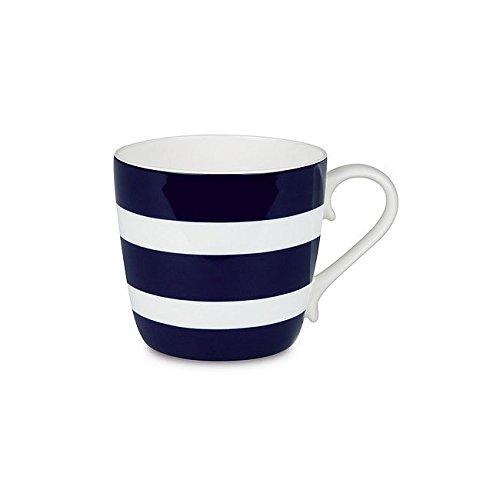 Konitz 4420571338 Polka Stripes Mugs, Set of 4, Dark Blue