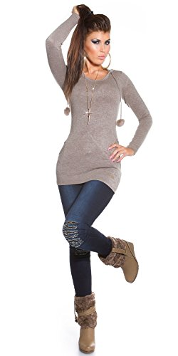 Skinny Jeans mit Pailletten am Knie by In-Stylefashion blau