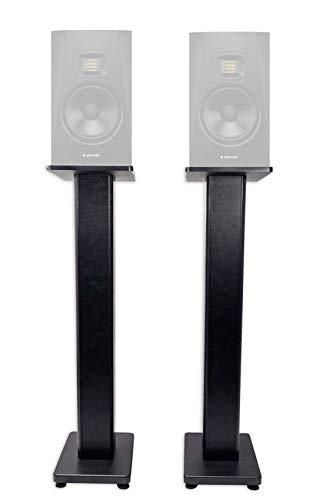 (2) Rockville 36 Studio Monitor Speaker Stands For ADAM Audio T5V Monitors