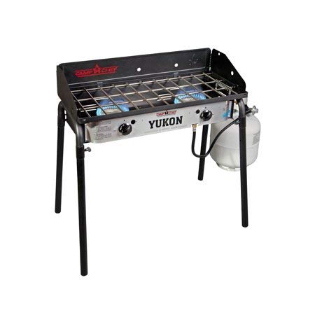 Camp Chef YK60LW Yukon 2-Burner Aluminum Outdoor Camping Stove ()