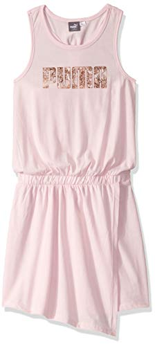 PUMA Big Girls' Racerback Dress, Cherry Blossom, X-Large (16)